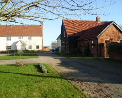 Architect designed new houses Drinkstone Suffolk