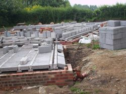 Footings for timber frame new build house in Drinkstone, Suffolk