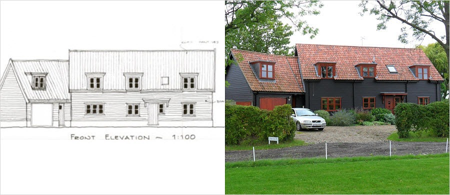 Grand Design timber frame house - project management by Nick Lane
