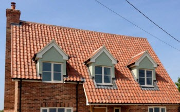 Roof line of New Build cottage Rattlesden