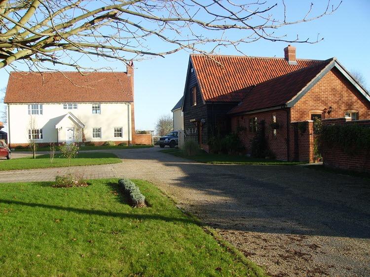 Architect designed new houses Drinkstone Suffolk