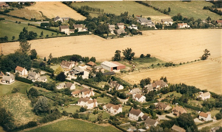Site before Architect designed new houses Drinkstone Suffolk