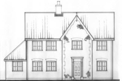 New house in Holton Suffolk. By Nick Lane project manager.