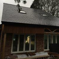 Timber frame House - back elevation
