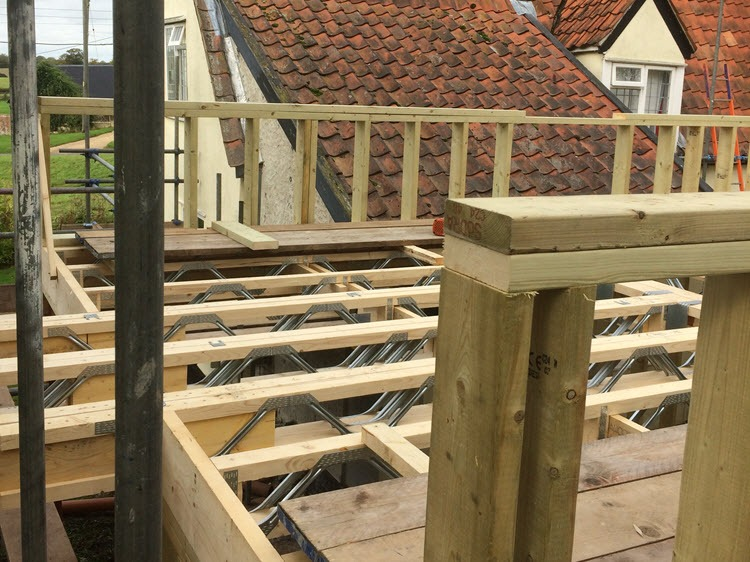 portfolio timber framed extension on listed house in hawkedon, burystedmunds